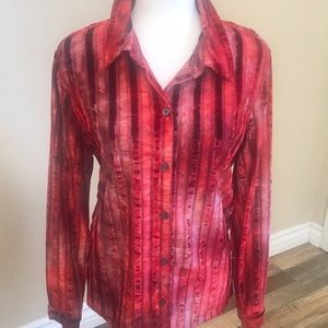 French Laundry velvet striped button down